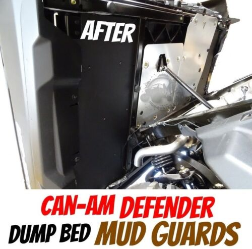 Can-Am Defender MudBusters Dump Bed Mud Guards Covers Shields Protection