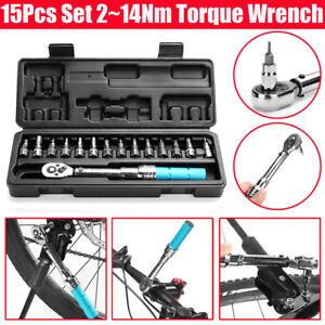 15x-Drehmomentschluessel-2-14nm-1-4-034-Drive-Ratsche-Sockel-Schraubendreher-Bit-Reparatur-Werkzeug