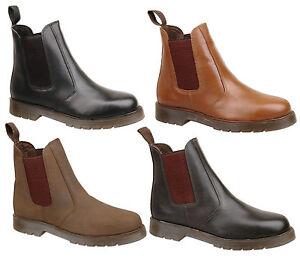 Para-Hombre-Aire-Suela-De-Cuero-Chelsea-Distribuidor-Tobillo-Fashion-Botas-Talla-6-7-8-9-10-11-12