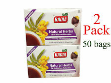 50 tea bags BADIA NATURAL HERBS - TE DE HIERBAS NATURALES SLIMMING TEA