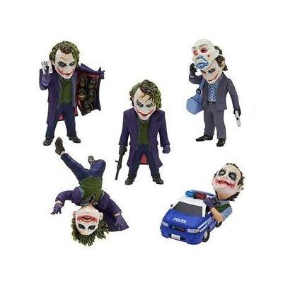 5pcs DC Comics Batman The Dark Knight The Joker PVC Figures Collection #F208