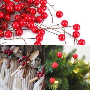 50-100pcs-simulazione-Cherry-ALBERO-DI-NATALE-SFERA-DI-FRUTTA-RAMO-ghirlanda-decorazione