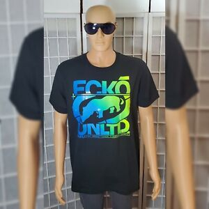 ECKO-UNLTD-TSHIRTS-MEN-REGULAR-FIT-SHORT-SLEEVE-SIZE-S-ECKO-LOGO-GRAPHIC-BLACK