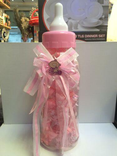 50x Gastgeschenke BABY  Bebek Sekeri Babyflasche ROSE