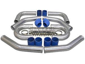 "2.0mm Thick CXRacing 2.5/"" Universal Aluminum Piping Kit 18/""L Mandrel Bent"