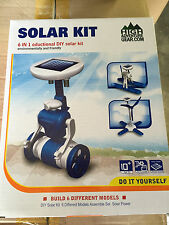 NEW IN BOX: 6 IN 1 Educational DIY Robots Solar Toy Kit Plane Boat Windmill