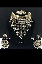 Traditional  Kundan and Pearl   drops  Choker  Ceremonial Jewellery Set