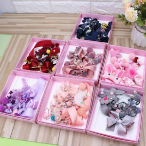 18Pcs-Baby-Girls-Head-Wear-Elastic-Bow-Knot-Hair-Clip-Barrette-Hairpin-Xmas-Gift