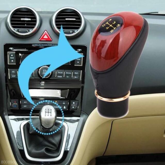 Vogue Car Manual 5-Speed Motor Gear Shift Lever Knob Fashionable Wood Design Hot