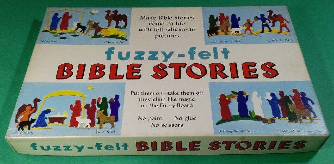 Fuzzy Felt-Historias De La Biblia-Antiguo Década de 1970. Allan Industries Ltd. hecho en Reino Unido