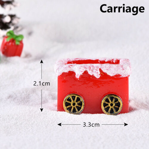 Bonsai  Deer Figurines Christmas Ornament Miniature Carriage Home Decor