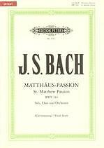 BACH ST MATTHEW PASSION BWV 244 Vocal Score German