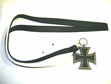 Eisernes Kreuz EK II 1813 an Schwarz-weißem Halsband (41cm)