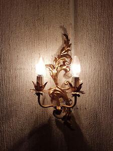 Nostalgische-Wandlampe-aus-Metall-florale-Lampe-fuer-die-Wand
