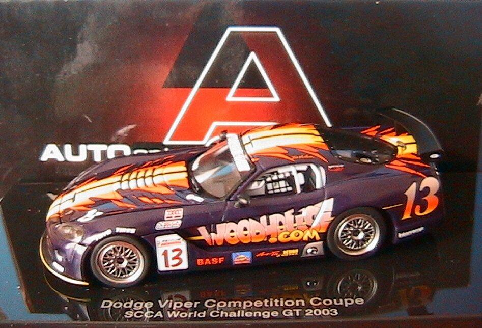 Dodge viper competition coupé bob woodhouse scca 2004   13 autoart   60423 1   43