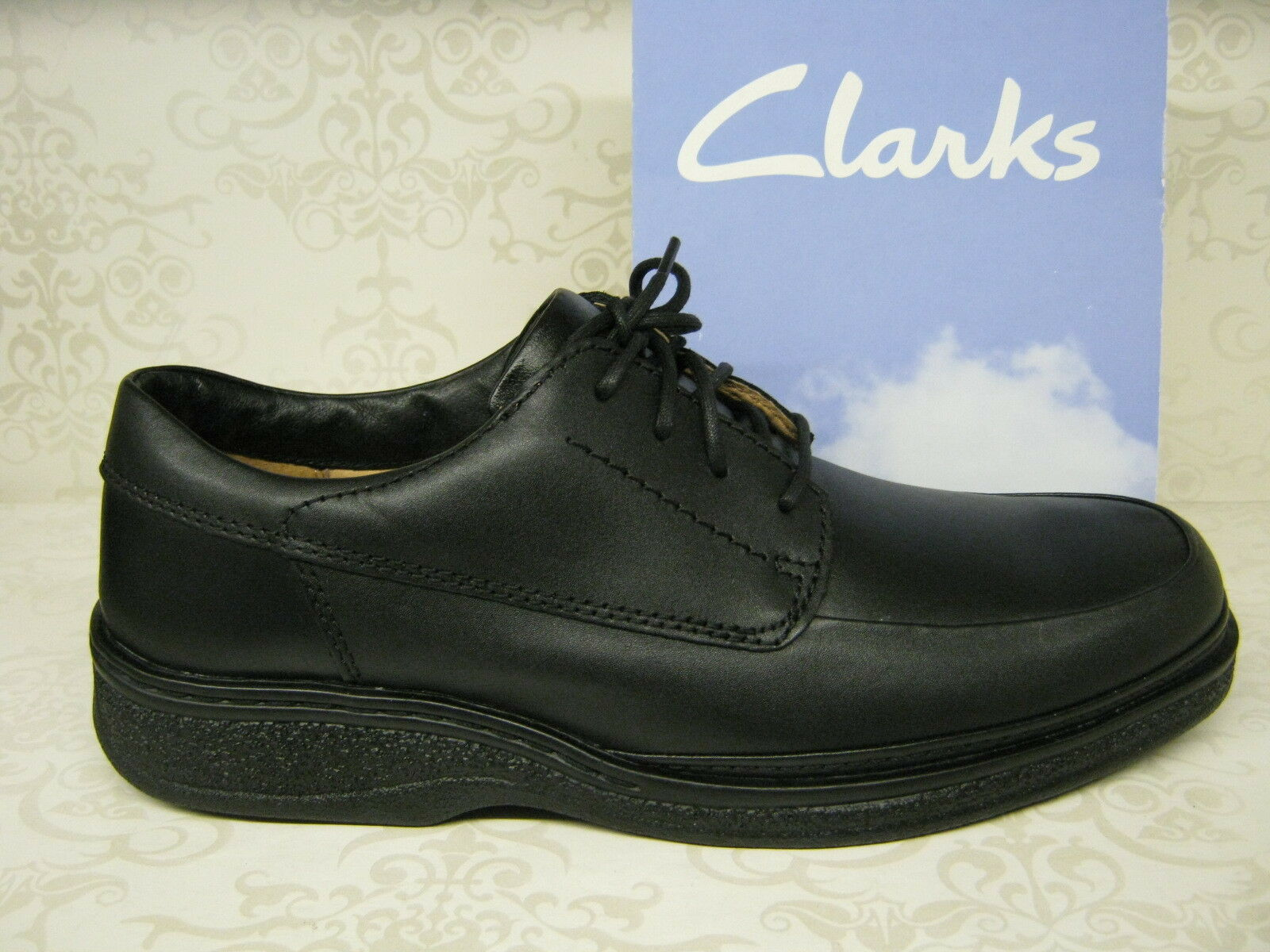 Clarks Stonehill Up Pace schwarz Leder Lace Up Stonehill Schuhes WIDE Fit 110a27