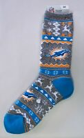 Miami Dolphins Men's Socks Large Size 10 To 13 Holiday Christmas