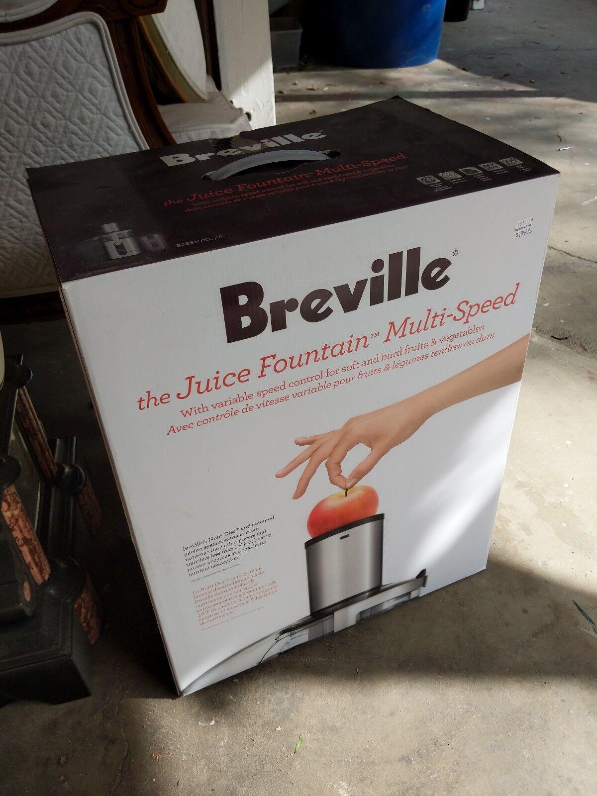 Juice Fountain Breville BJE510XL Multi-Speed 900-Watt Juicer