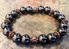 Men's Premium Copper/10mm Hematite Signature Series Zen Bracelet