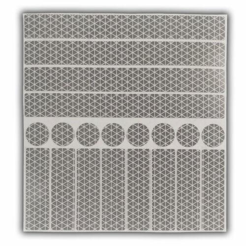 Orafol RA2cM Folie Silber stark reflex UvV Aufkleber reflektierend 20 Stück
