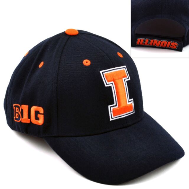 save off 92851 d1773 Top of the World Illinois Fighting Illini Triple Conference Baseball Cap