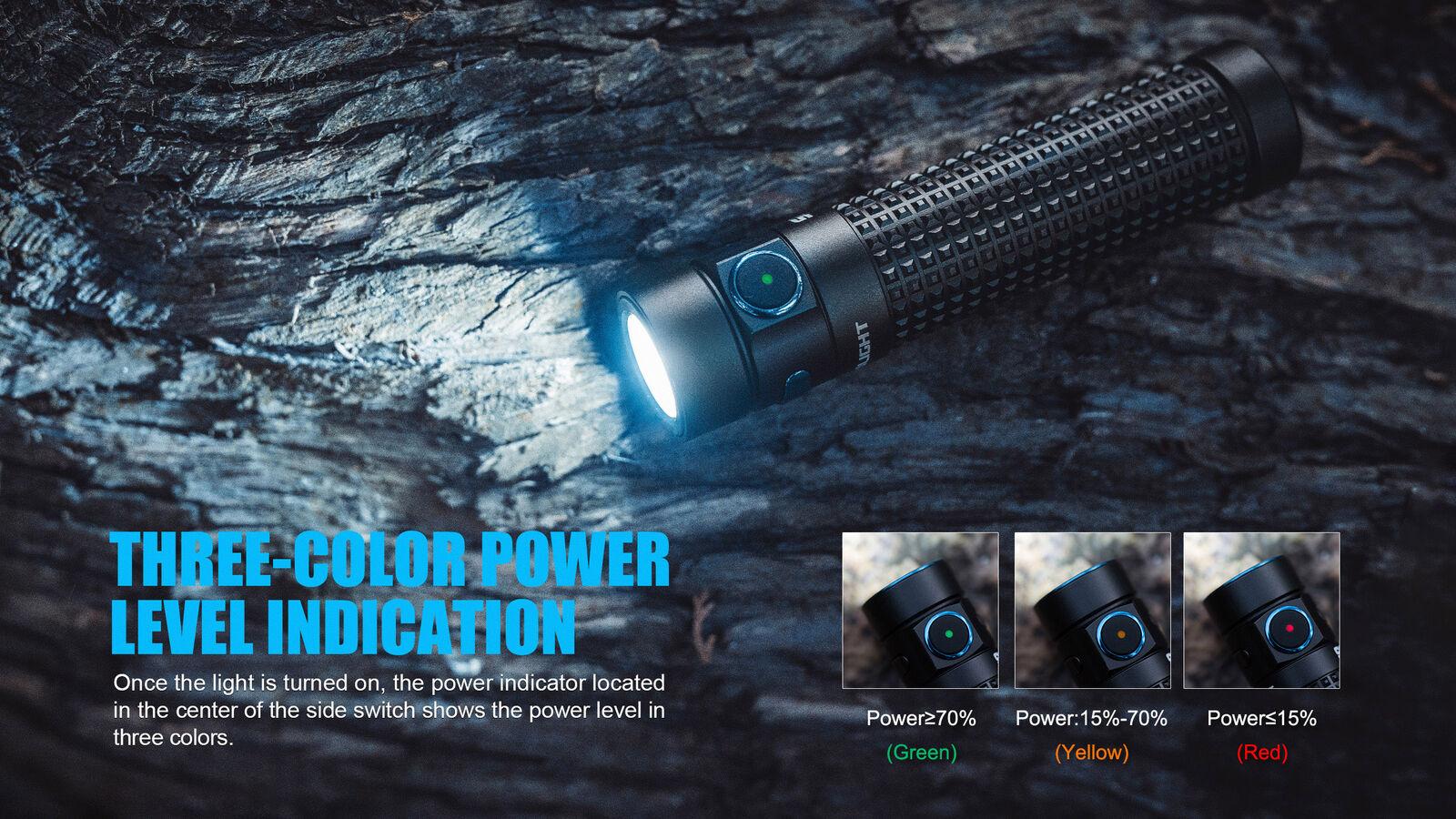 Olight S2R Baton II II Baton 1150 lm Rechargeable Flashlight w/ 2x Olight Batteries 97740c