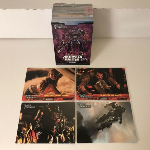 TRANSFORMERS THE 1ST MOVIE (Topps/2007) Complete Trading Card Set w/ MEGAN FOX