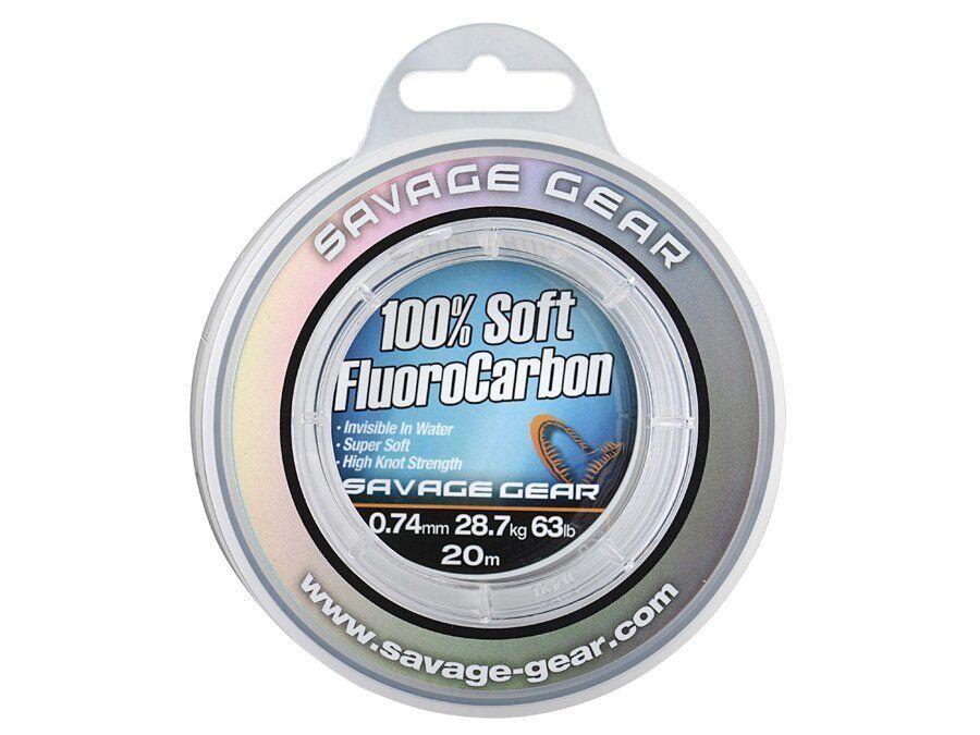 Savage Gear Soft Flugold Carbon 15m-35m Résistant aux UV 100% Flugold Carbon