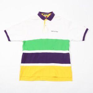 90s Vintage TOMMY HILFIGER Athletics Polo Shirt   Mens XL