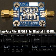 Low Pass Filter Lpf 7th Order Elliptical 1 1000mhz 35 7 14 28 144 433mhz Etc