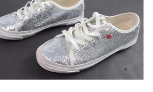 4df00f0df1d Details about UGG I HEART LACE UP KIDS GIRLS SILVER GLITTER SNEAKERS TENNIS  SHOES SZ:3 EUC