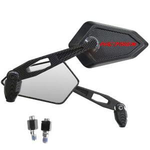 Spiegel-Mirror-Street-Carbon-Look-Red-Logo-Honda-NC750X-Nc-750-X-ABS-Code-DCT