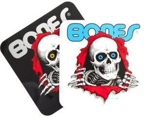Bones Ripper Autocollant Skateboard Powell Peralta Transparent ou Noir