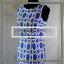 ALYX-NWOT-Women-039-s-Shift-Dress-Size-6-Sapphire-Blue-amp-White-Geometric thumbnail 1