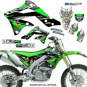 Kawasaki sticker sheet 27 stickers in total kx kxf mx