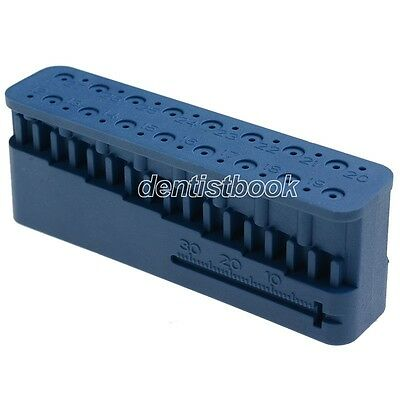 Dental Endo Block Files Measuring Tools Accessory Endodontic Ruler Blue
