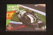 Card Kawasaki ZX-10R 2015 #40 Roman Ramos (ESP) WSBK (HW) signed