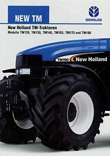 Prospekt New Holland TM Traktoren 5/02 2002 Traktor TM190 TM175 TM155 TM140 u.a.