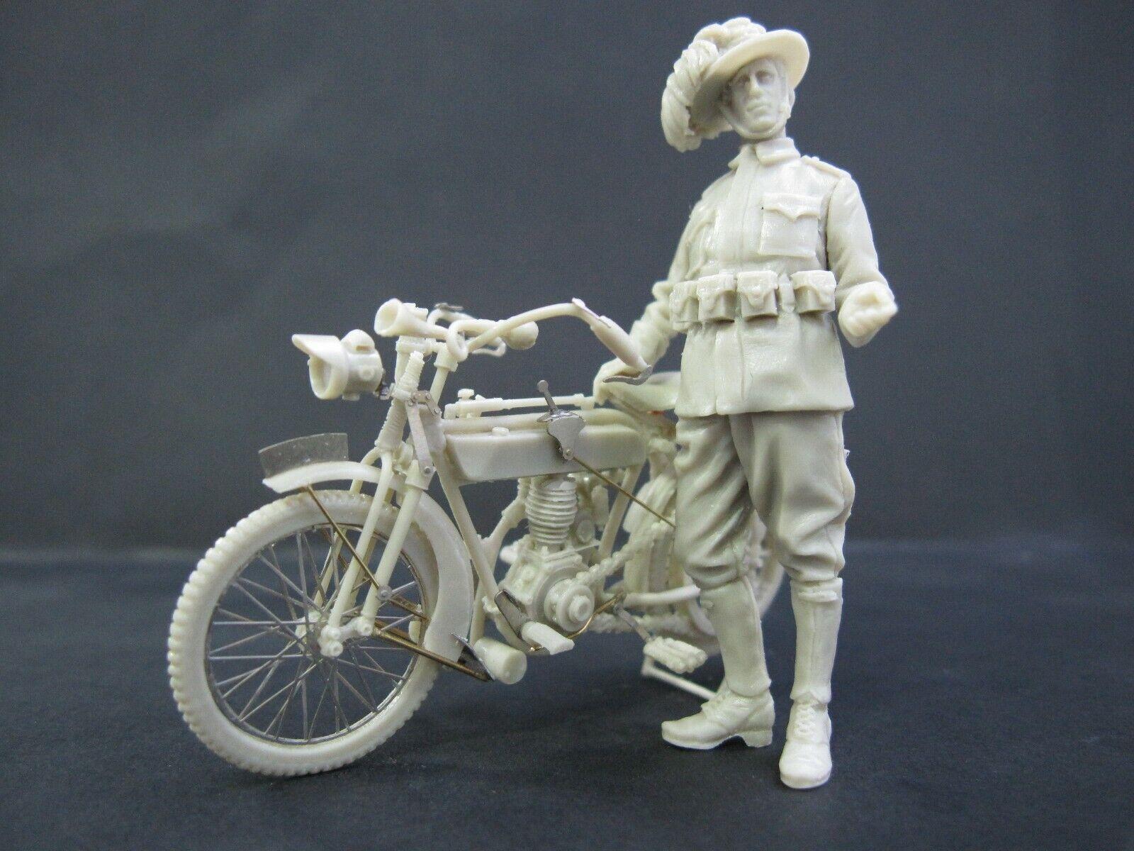 WWI FRERA 1914 Military Version Motorcycle & Pilot 1 35 Cix.Models Resin CixM019