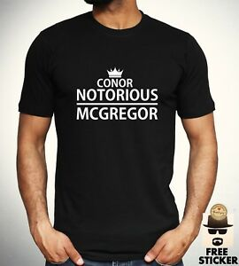 6aaf7c89c Conor McGregor Notorious T shirt MMA Fighter Gym Training t New Mens ...