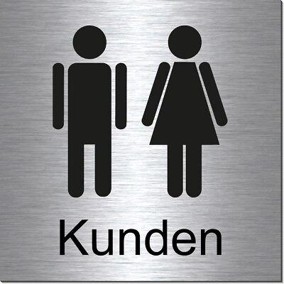 Aktiv Toilette-mann-frau-kunden-alu-edelst.optik-10 X 10 Cm-türschild-schild-selbstkl. Im Sommer KüHl Und Im Winter Warm