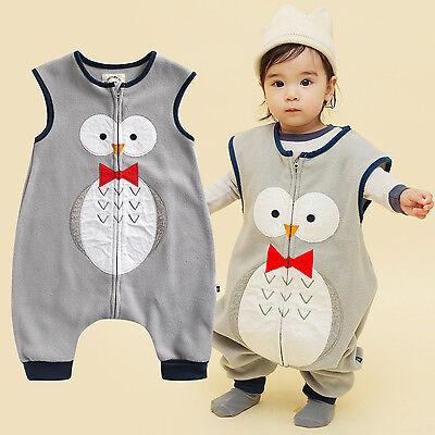 "Nwt Vaenait Baby Toddlers Kids Fleece Pajamas Sleeping Blanket ""p.tie Owl"" 1-7t"