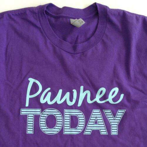 Parks and Recreation Pawnee Today Large Purple Shi