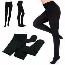 Spandex Fleece Lined Warm Thick Thermal Full Foot Leggings Womens Ladies Pants