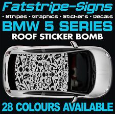 BMW 5 SERIES GRAPHICS STICKER BOMB ROOF DECALS STICKERS STRIPES M5 E60 F10 GUN