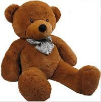 1.2m Tall Giant Teddy Bear Stuffed Plush Doll Birthday Xmas Gift Dark Brown