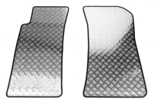 Fußmatten Alu Riffelblech für VW  Golf 5 Frontsitze ohne Staufach 10/2003-