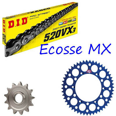 50 51 Tooth rear sprocket//14T front sprocket YAMAHA YZ450F 48 D.I.D Gold Motocross Chain BLACK Sprocket Combo Kit 48 49