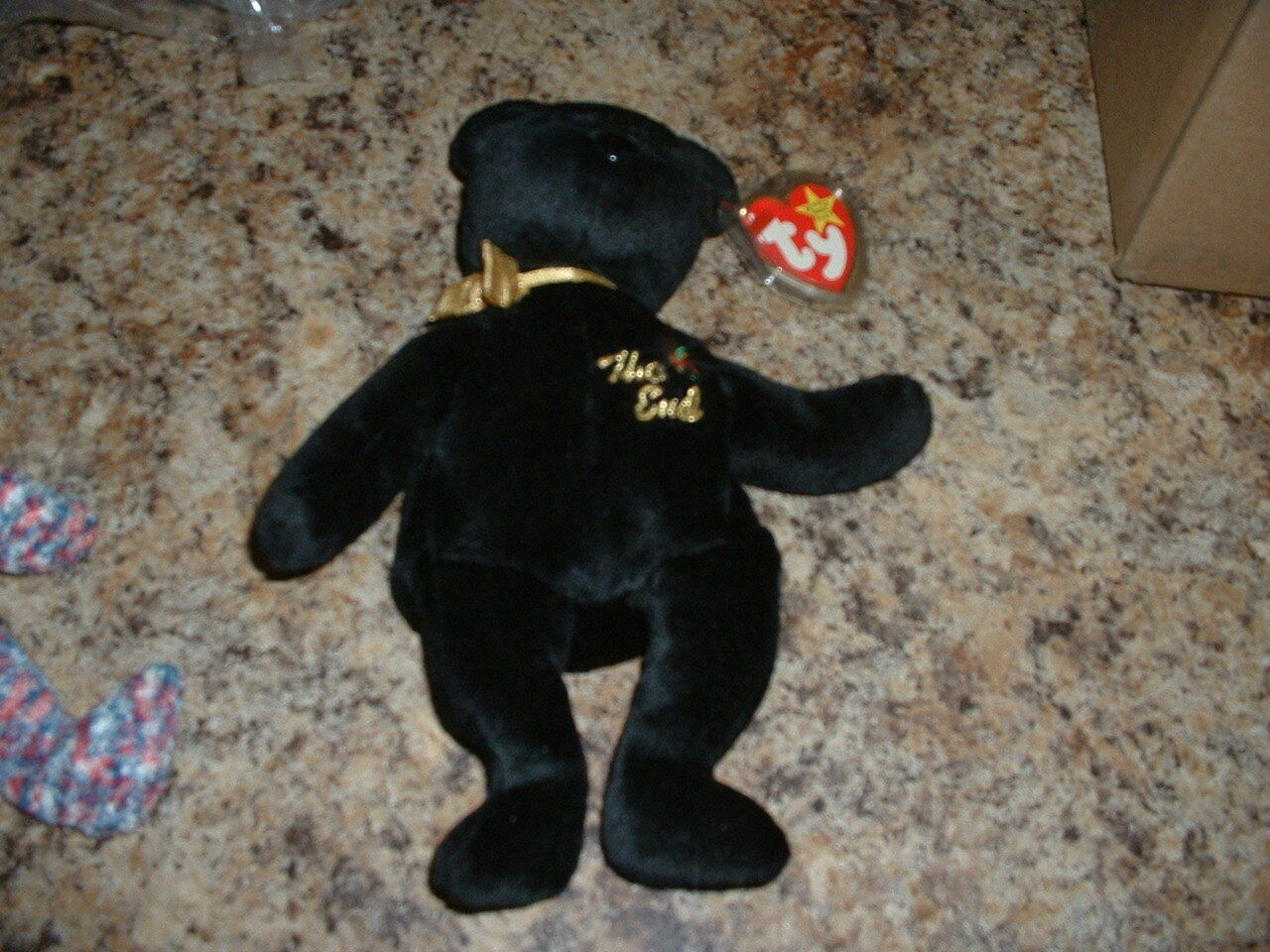 Ty Beanie Baby -  The End  Bear -  Great  Condition With Errors