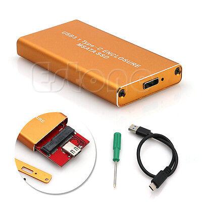 USB-C USB3.1 Type C to 50mm mSATA PCI-E Solid State Disk SSD Case Enclosure 1PC